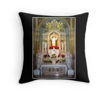 Sacred Heart of Jesus Altar at Christmas Throw Pillow