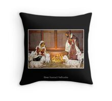 Nativity Manger Scene - Christmas Creche Throw Pillow
