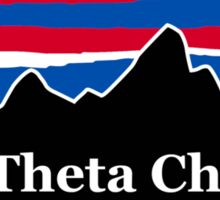 Theta Chi Red White and Blue Sticker