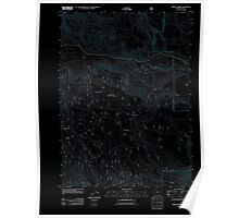 USGS Topo Map Oregon Horse Prairie 20110727 TM Inverted Poster