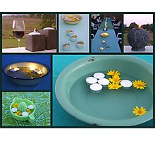 Fire Water Wind Wine Food & Good Friends Photographic Print