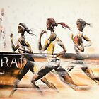 Marathon2 (tribute to african runners) - women by Philip Gaida