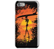 Skeleton with surfboard iPhone Case/Skin