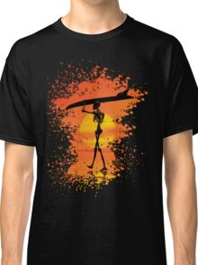 Skeleton with surfboard Classic T-Shirt