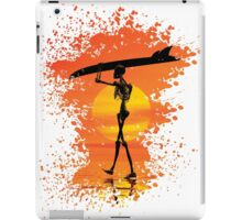 Skeleton with surfboard iPad Case/Skin