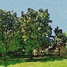 Green Tree's by Linda Miller Gesualdo