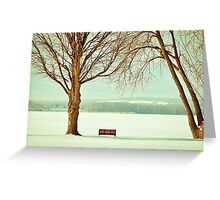 Winter Solitude by the Lake  Greeting Card