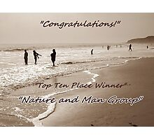 Nature and Man Top Ten Winner Banner Photographic Print