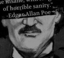 Edgar Allen Poe Quote Sticker