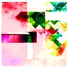Floating Kaleidoscopic Glass by Internal Flux