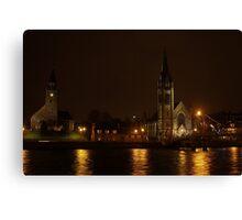 Inverness, Scotland at night Canvas Print