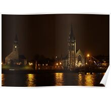 Inverness, Scotland at night Poster