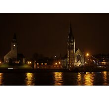 Inverness, Scotland at night Photographic Print