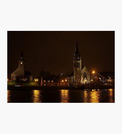Inverness, Scotland at night Photographic Print