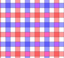 Red white and blue check Sticker