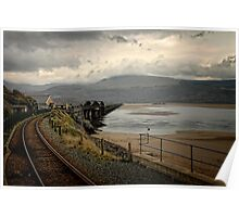 Barmouth Railway Bridge, Wales Poster