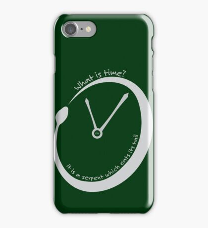 What is time? iPhone Case/Skin