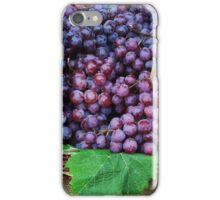 Basket of red grapes...... iPhone Case/Skin
