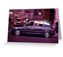 London glowing Taxi Greeting Card
