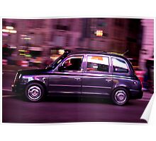 London glowing Taxi Poster