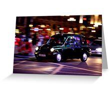 Taxi in London Greeting Card