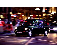 Taxi in London Photographic Print
