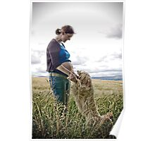pregnant in a field of barley Poster