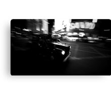 Flashing taxi Canvas Print