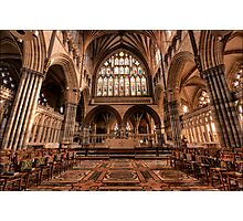 The Quire at Exeter Cathedral Photographic Print