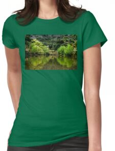 Reflections By The Lake Womens Fitted T-Shirt