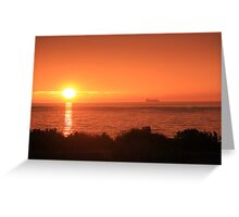 Bay Sunset - Brighton view, Port Phillip Bay Greeting Card