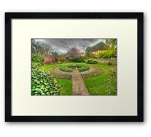 Christ Church Oxford Walled Garden Framed Print