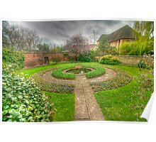 Christ Church Oxford Walled Garden Poster