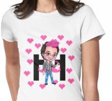 PINKIPLIER - Markiplier pink hair chibi1 Womens Fitted T-Shirt