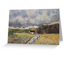 THE MATERIAL OF LIFE- Autumn Countryside Greeting Card