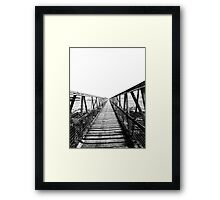Bridge over still waters Framed Print