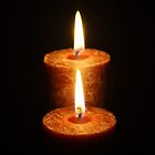 Candle in the dark by Alfredo Encallado
