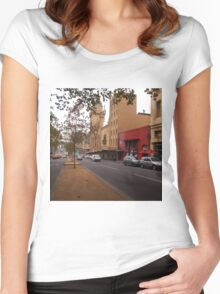 A funny thing happened on the way to the Forum!! Melb. VIC Australia Women's Fitted Scoop T-Shirt