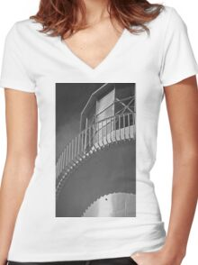 The Lighthouse Women's Fitted V-Neck T-Shirt