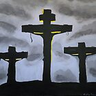 Calvary- Crucifixion of Jesus- Dark at Noon  by Kate Farrant
