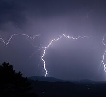 Lightning Strikes in the Mountains by jculverhouse