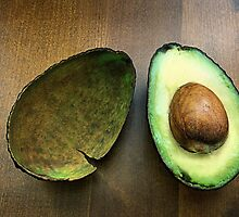 avocado still life.. by Michelle McMahon
