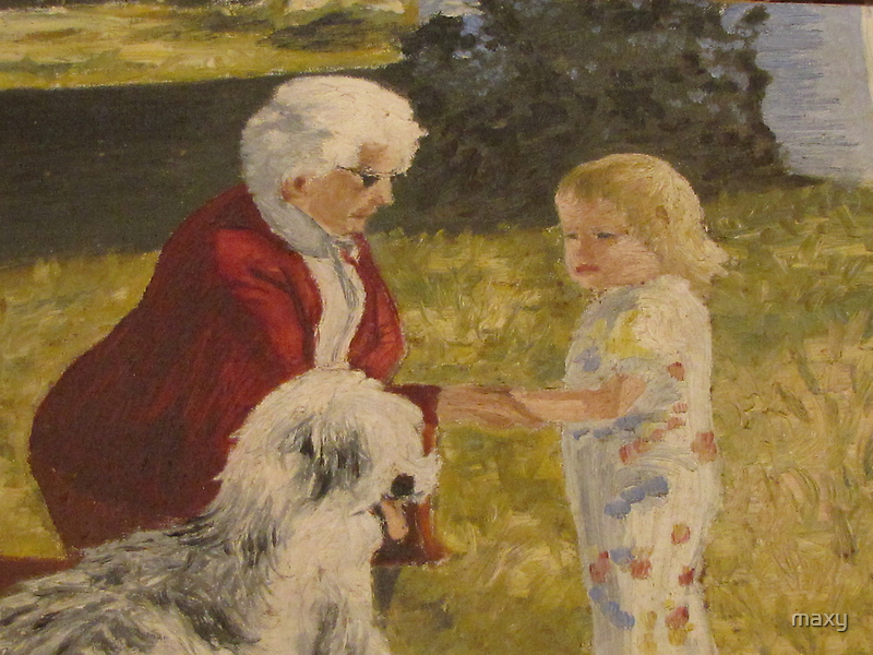 Nellie, Erika and Topper .. oil on canvas '76 by maxy