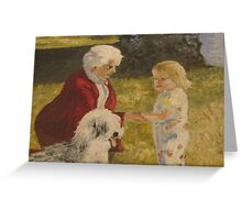 Nellie, Erika and Topper .. oil on canvas '76 Greeting Card