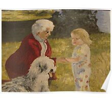 Nellie, Erika and Topper .. oil on canvas '76 Poster