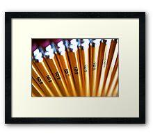 Pencils Framed Print