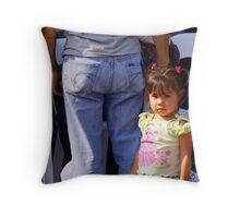 Young girl Throw Pillow