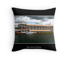 Hotel in Alexandria Bay, NY & Dock Throw Pillow