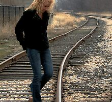 A walk on the tracks by Kelley Conkling