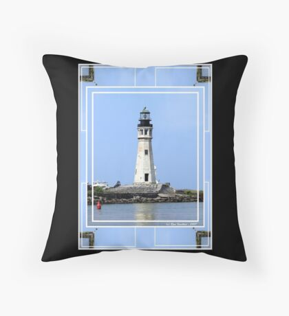 Buffalo Main Lighthouse #2 Throw Pillow